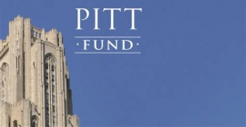 Pitt fund logo against cathedral of learning